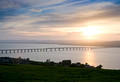 tay rail bridge and tay estuary by dundee angus