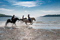 horse riding / galloping on beach