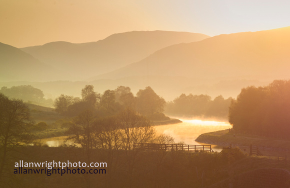 early morning mist on the Caledonian Canal