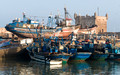 Scene at fishing port of Essaourira, Atlantic Coast of Morocco.