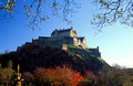 edinburgh castle in crisp autumn light