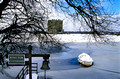 threave castle in snow