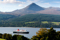 brodick ferry and goatfell arran