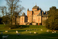 Thirlestane Castle with grazing sheep