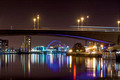 river clyde by night glasgow